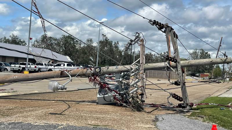 Damage from Hurricane Ida in Houma, La.