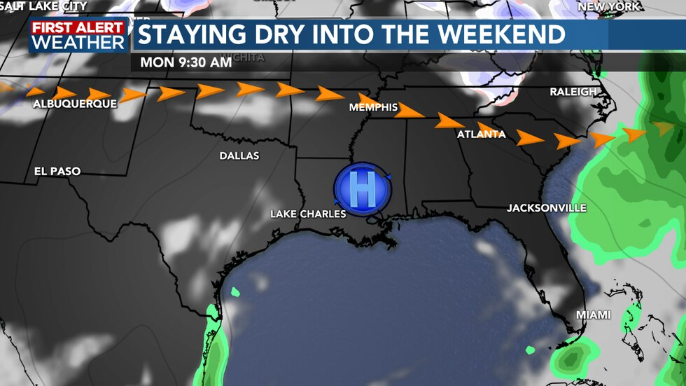 Nice weather is ahead as we head into the weekend, staying cooler