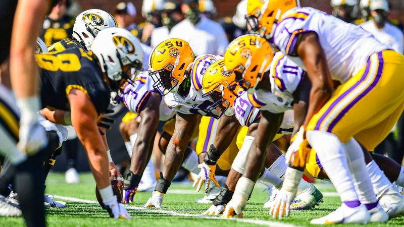Glen Logan during the second half of a game between LSU and Missouri at Memorial Stadium in...
