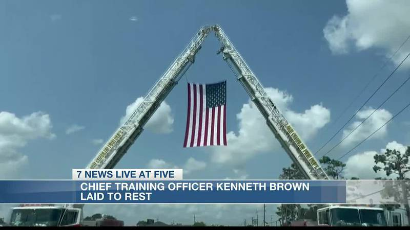 Chief Training Officer Kenneth Brown laid to rest on last Friday.