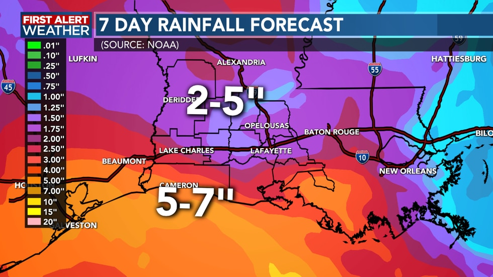 Several inches of rain will be possible by the time Beta comes to an end