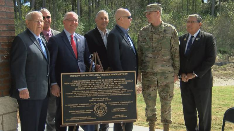 SWLA Veterans Cemetery holds dedication ceremony in Jennings
