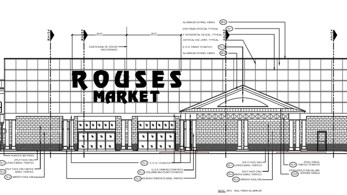 Rendering of the Rouse's Market planned at the intersection of Nelson and Ham Reid roads. The...
