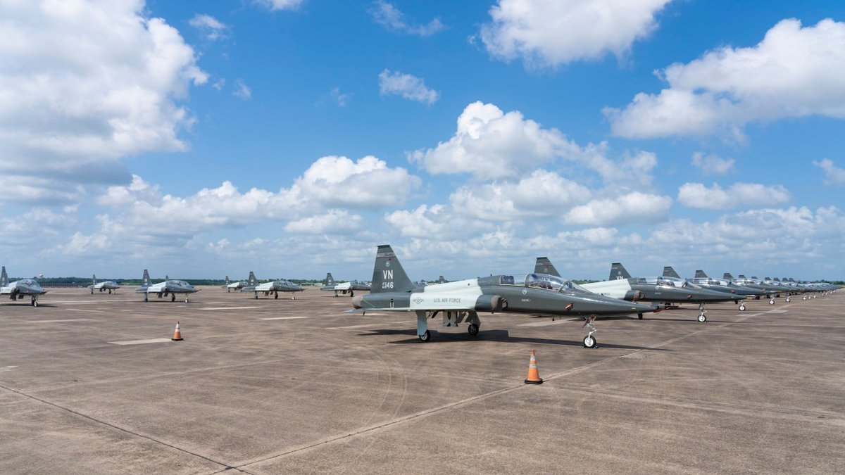 Chennault welcomed over two dozen Northrop T-38 Talons and their U.S. Air Force twinjet...