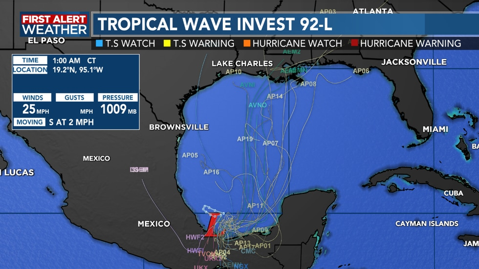 Watching for possible tropical development into the weekend