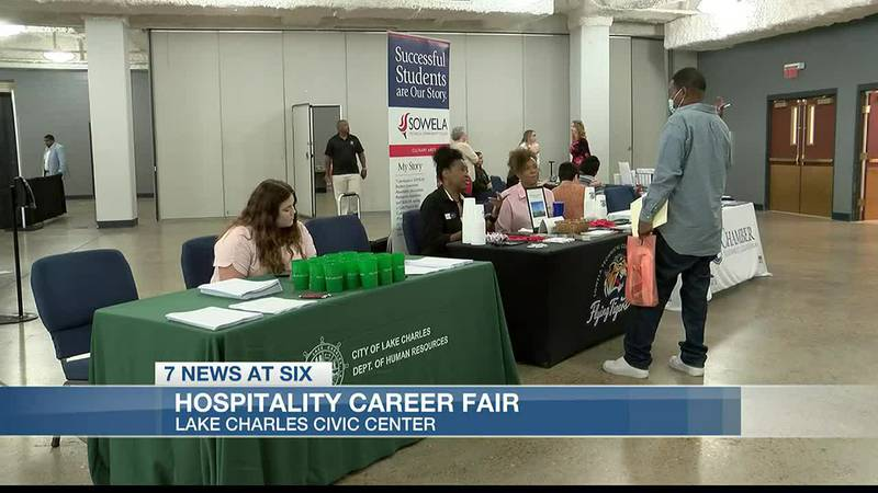 Frank Shaw just moved to Lake Charles and decided to check out the hospitality career fair - he...
