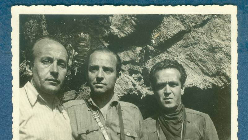 Hermann Wygoda with members of the resistance during WWII