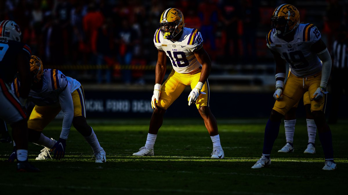 Damone Clark of the LSU Tigers during the second half of a game against the Auburn Tigers at...