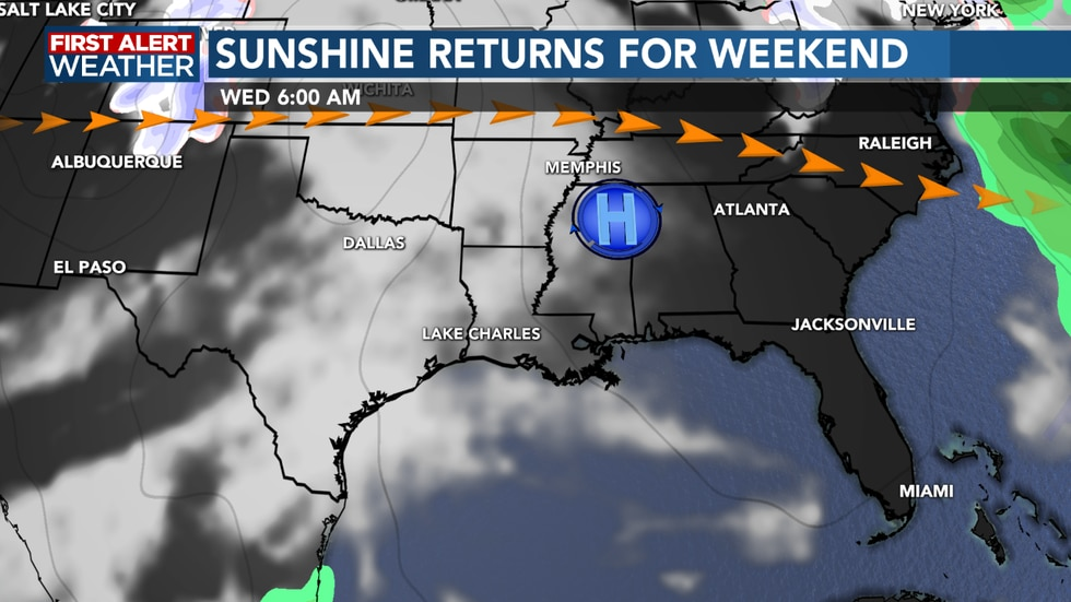 High pressure keeps us dry and warm into next week