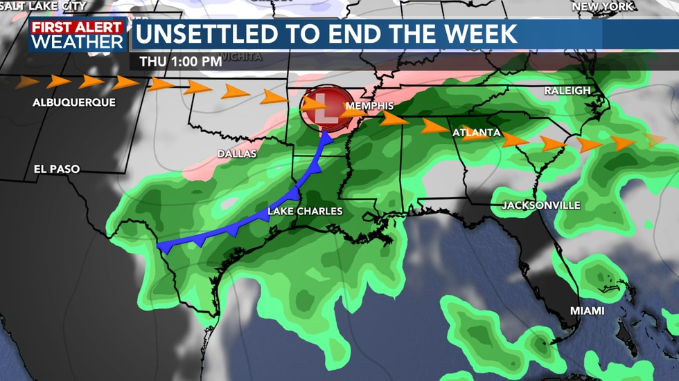Rain and storm chances are on the increase heading into Thursday