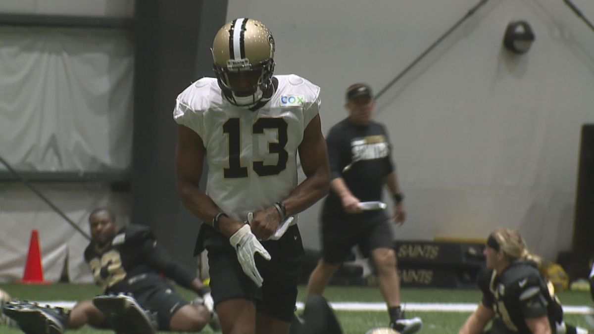 Saints receiver Michael Thomas returned to practice Wednesday for the first time since...