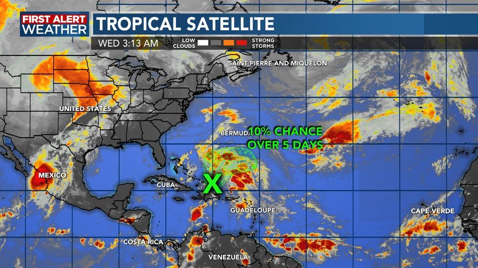 Tropics remain quiet close to home