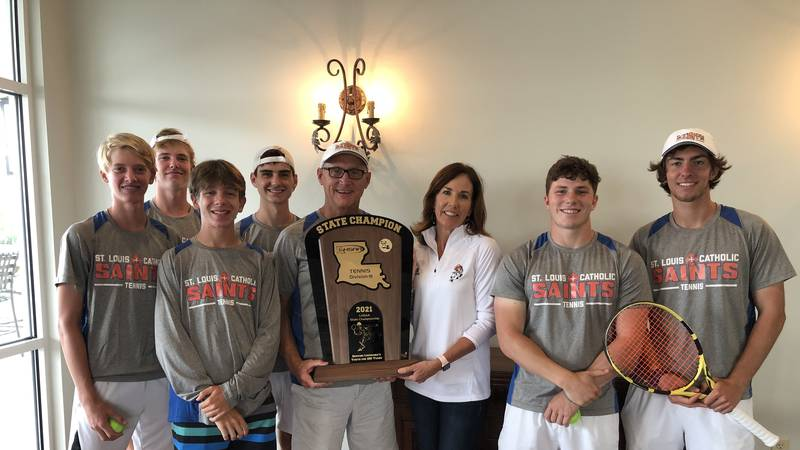 Saints bring home first boy's tennis state championship
