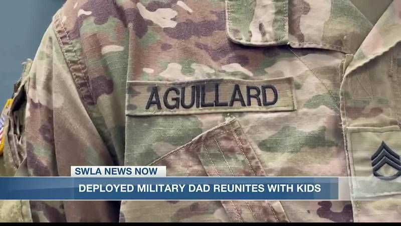 Aguillard hugged his kid for the first time Thursday in over a year.