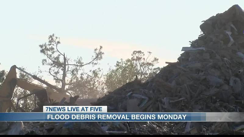 With about 98 percent of hurricane debris already picked up, the work now begins on the ruins...