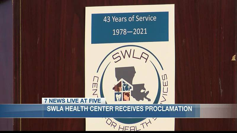 SWLA Center for Health Services receives proclamation from the Mayor.