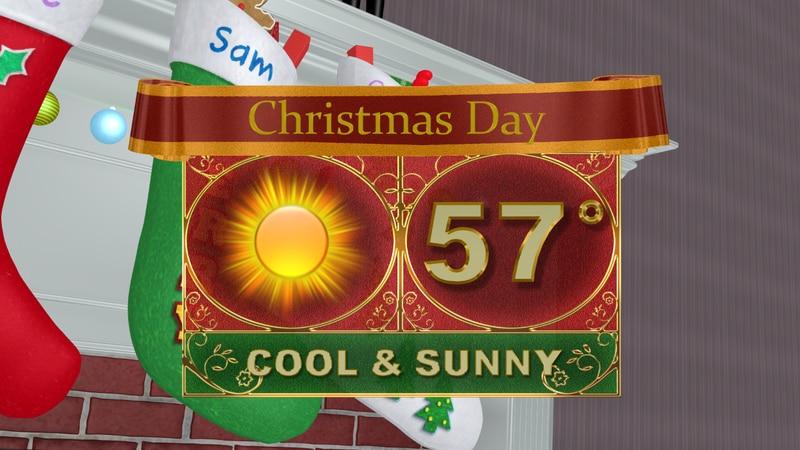 A nice Christmas day ahead with plenty of sunshine