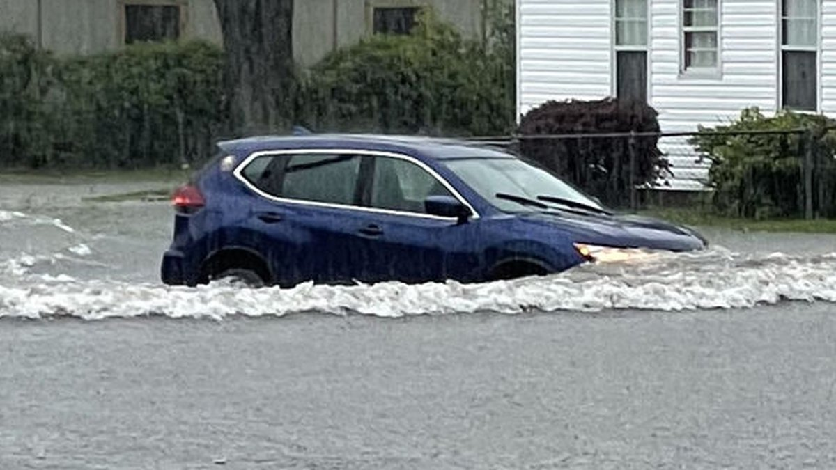 Flooding on Louisiana Avenue on May 17.