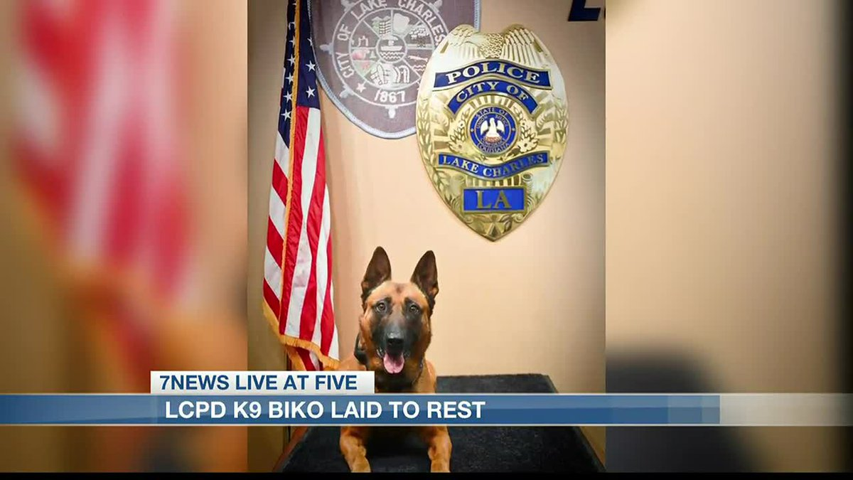 Lake Charles Police Department K9 Biko laid to rest.