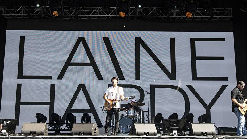 Laine Hardy performs during KAABOO 2019 at the Del Mar Racetrack and Fairgrounds on Saturday,...