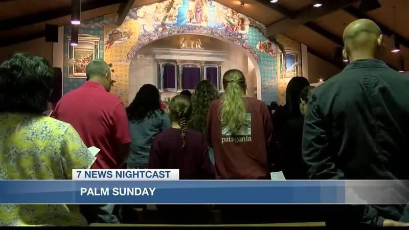 Local Catholic church kicks off Holy Week with Palm Sunday