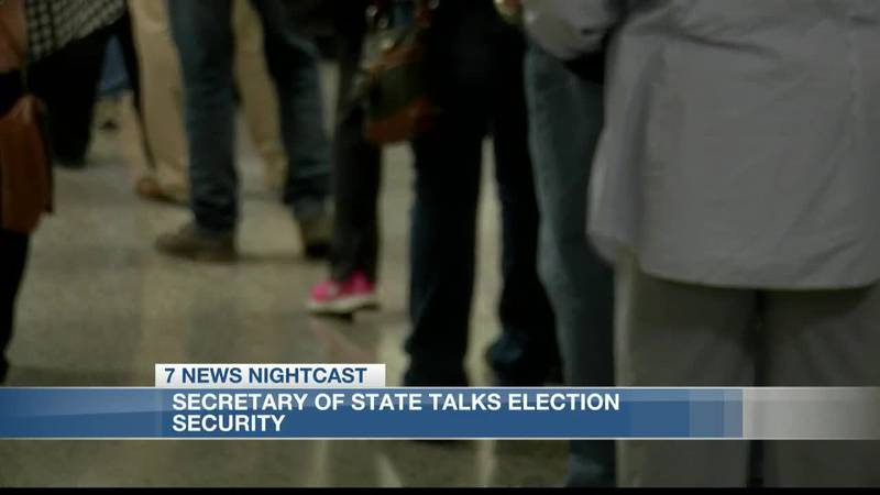 Secretary of State speaks about election security ahead of 2020 election