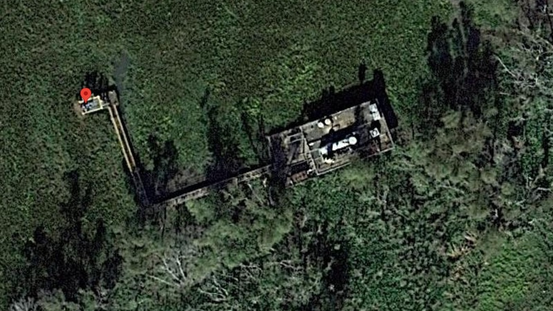 Multiple people have been injured after a natural gas well caught fire in a marshy area along...
