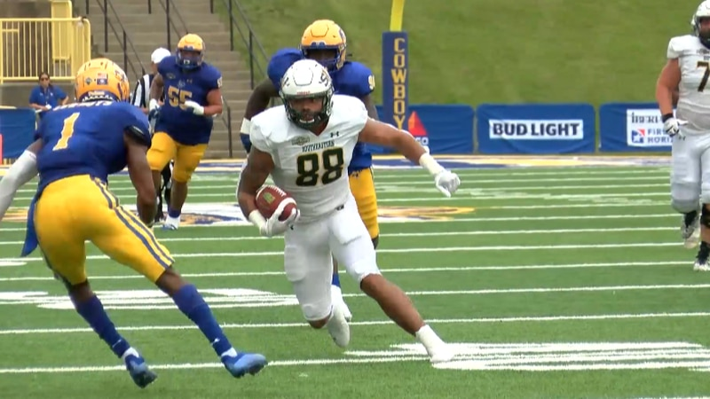Colby Richardson coming to make a tackle against Southeastern
