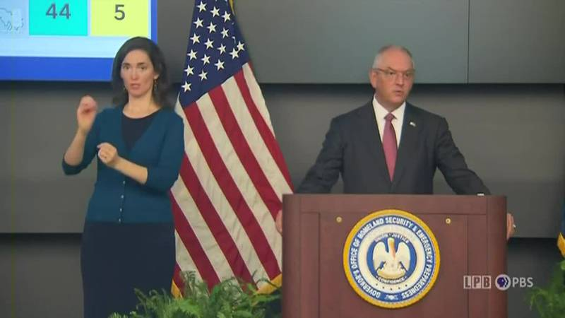Gov. Edwards provides update on COVID in Louisiana - July 30, 2021
