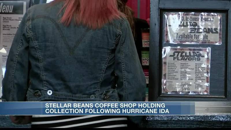 Stellar Beans holding collection drive following Hurricane Ida.