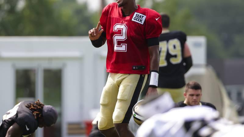 New Orleans Saints quarterback Jameis Winston had a solid practice on Friday. (AP Photo/Derick...