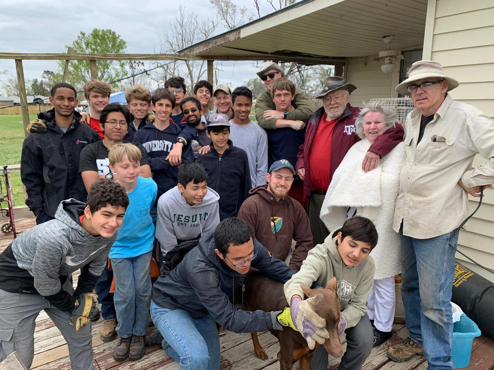 Houston teens spend spring break helping with storm recovery in SWLA.