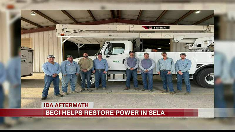Beauregard Electric heads to Houma to restore power
