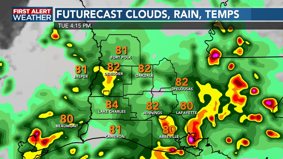 We'll see rounds of scattered showers and storms this afternoon
