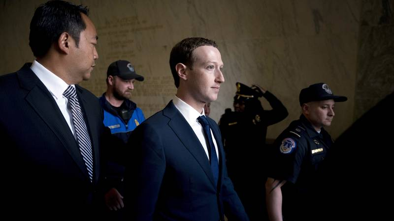 FILE - In this Nov. 19, 2016 file photo, Mark Zuckerberg, chairman and CEO of Facebook, attends...