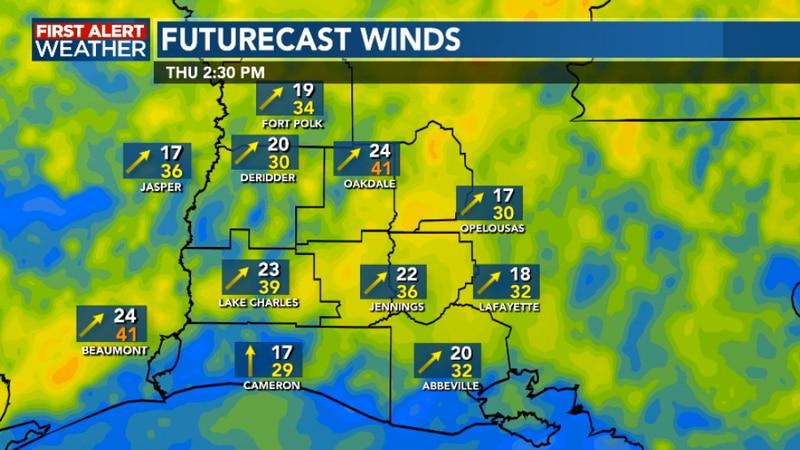 Warmer windy Thursday