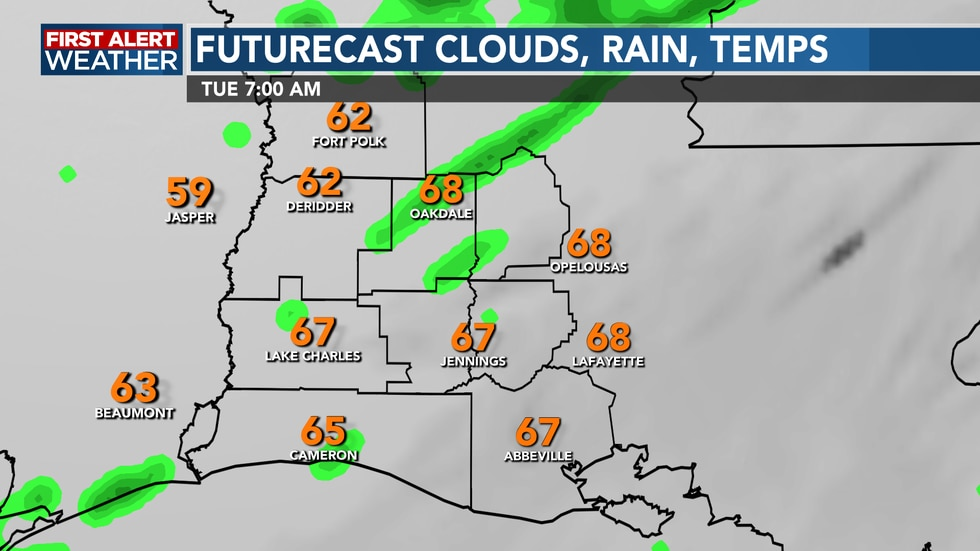 A few showers possible in the morning, but a mild and muggy start