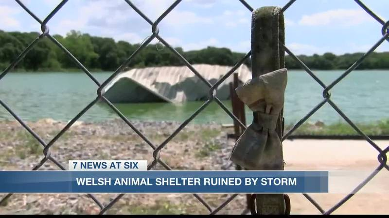 Town of Welsh Animal Shelter sustained serious damage after strong storms
