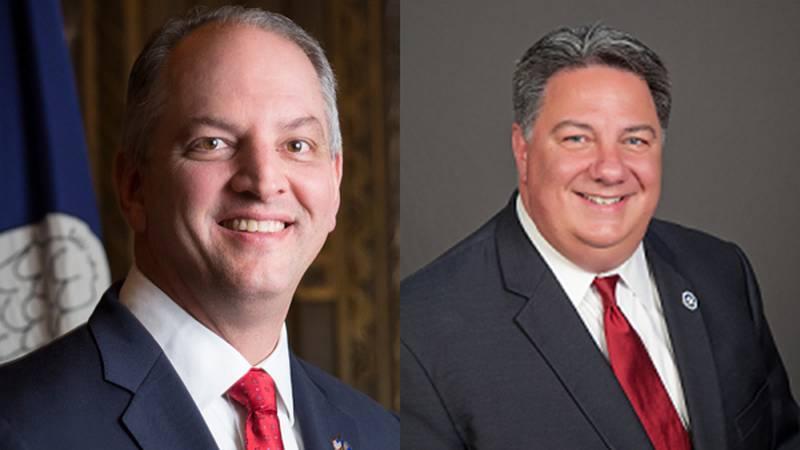 Governor John Bel Edwards and Secretary of State Kyle Ardoin