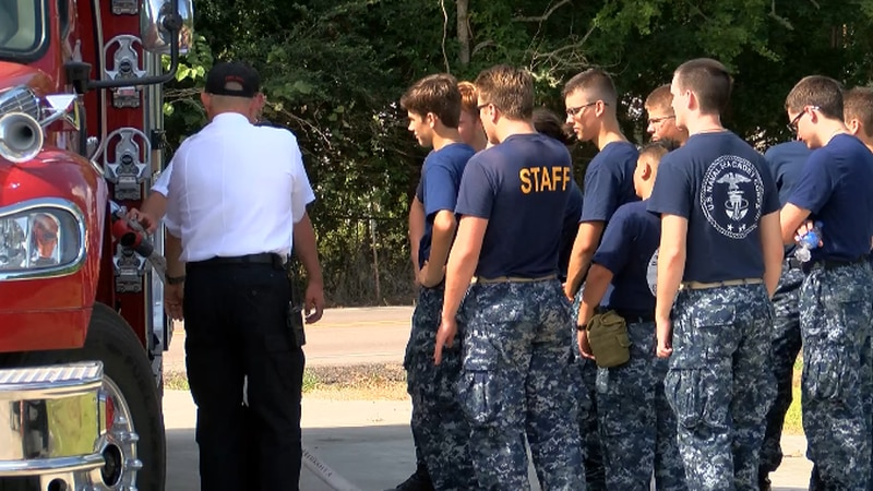 U.S. sea cadets train with Starks fire department