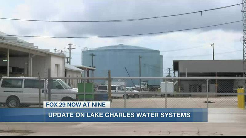 Mayor Hunter gives an update on the city's water plant's hurricane repairs.