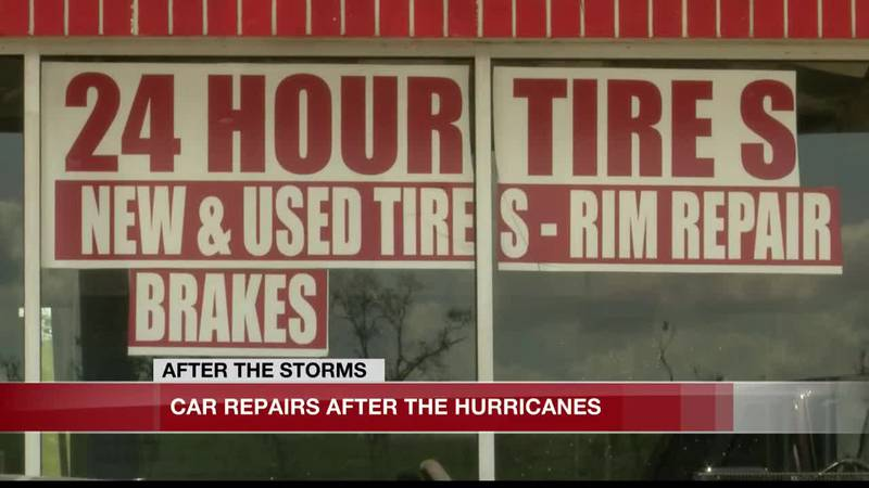 Car repairs after the hurricanes