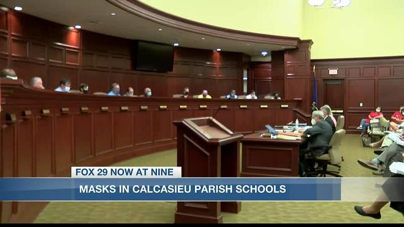 Parents speak out against masks at Calcasieu Parish School Board meeting.