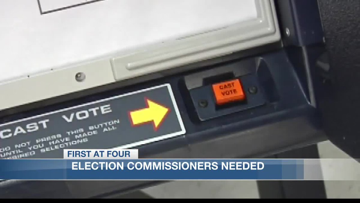 Election Commissioners needed at the Calcasieu Parish Clerk of Court.