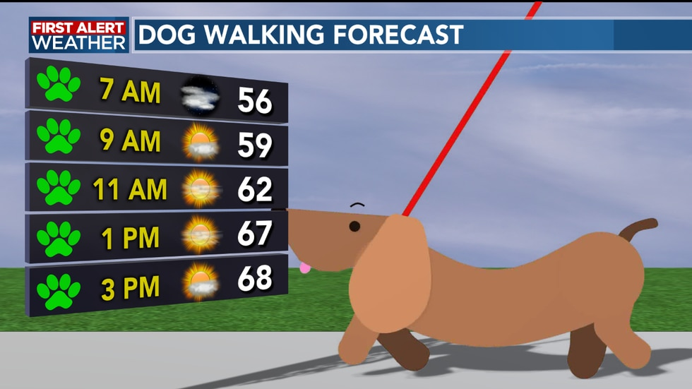 We see sunshine and pleasant temperatures arrive into the afternoon