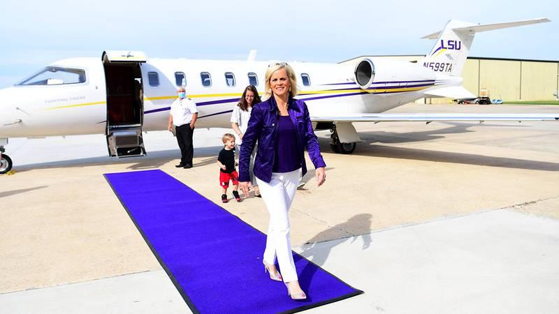 New LSU women's basketball head coach Kim Mulkey arrived in Baton Rouge on Monday, April 26,...