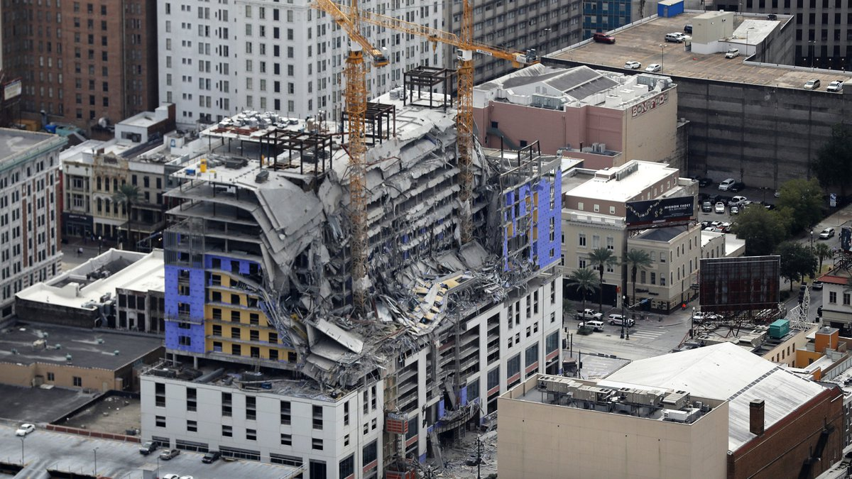 FILE - This Oct. 12, 2019, file photo, shows damage of a partial collapse at the Hard Rock...