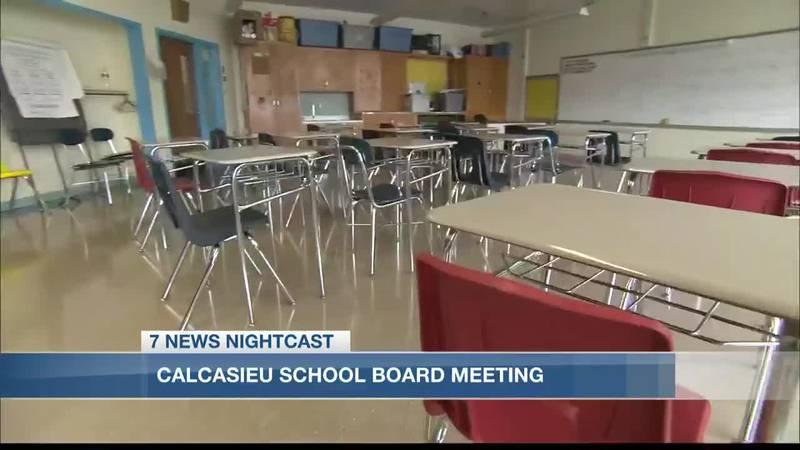 Calcasieu School Board meets to discuss extending paid sick leave, uniform requirements