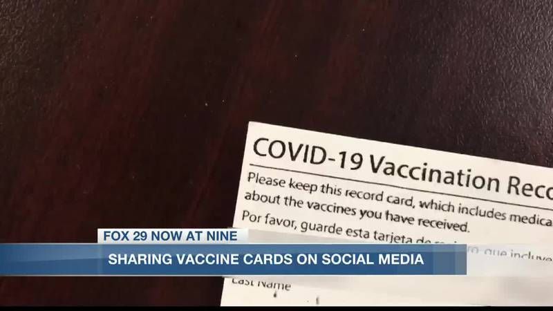 Posting COVID vaccine card could expose personal information