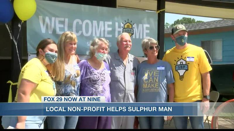 A Sulphur man returns to new home thanks to a local non-profit.